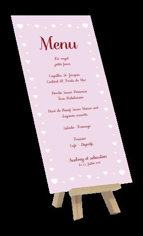 modèle menu pour mariage, anniversaire, baptême, communion, fête