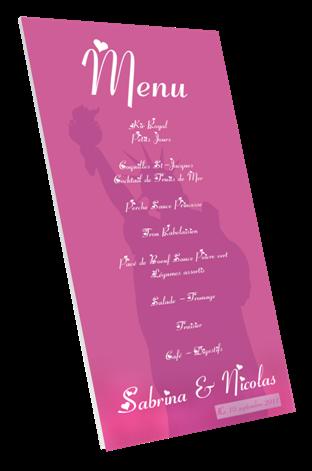 carte menu mariage sur tableau imprim pour anniversaire. Black Bedroom Furniture Sets. Home Design Ideas