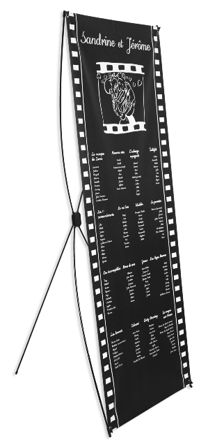Plan de table en image avec support de pr sentation - Exemple plan de table mariage ...
