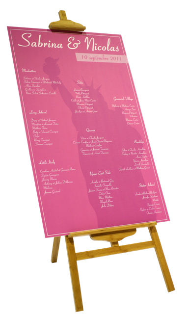 Mariage new york - Exemple plan de table mariage ...