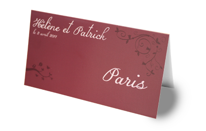 Porte nom de table id e d co pour table de mariage for Porte nom de table noel