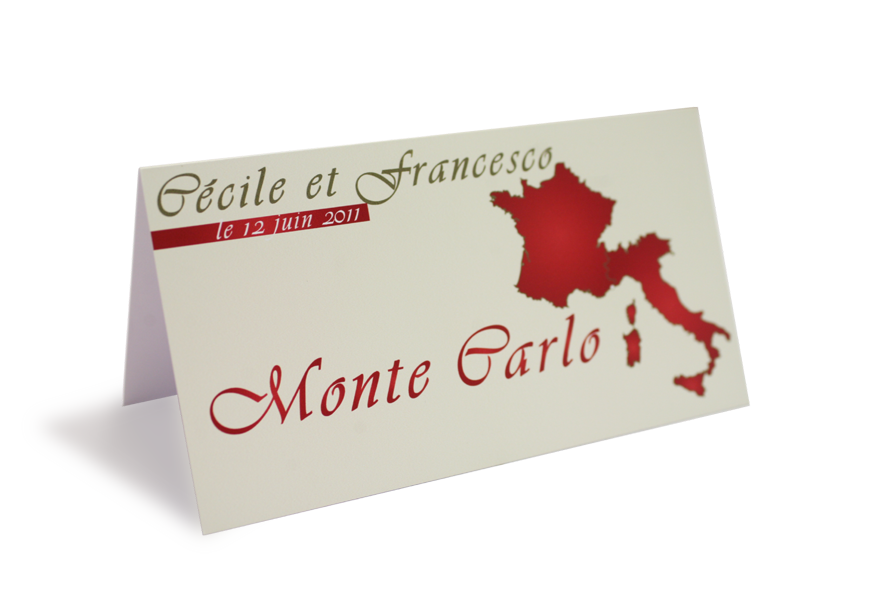 Cartons de table marque noms gratuits for Decoration table porte nom