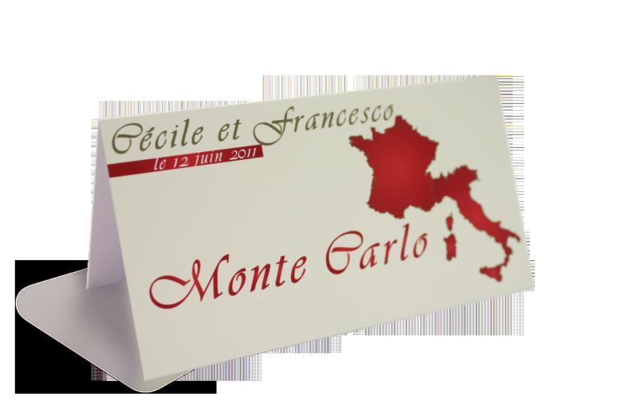 Porte nom de table carton personnalis imprim recto for Porte nom a imprimer gratuitement